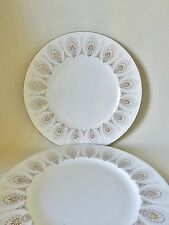 TWO WEDGWOOD MEDINA DINNER PLATES GOOD CONDITION  10.75 INS