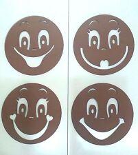 Plantillas para cara de fofuchas de 6cm de diámetro, 4 modelos. Mod.4