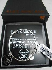Alex and Ani Words Are Powerful EVERYTHING HAPPENS FOR A REASON Bracelet Silver