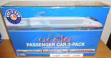 LIONEL 6-15584 AMTRAK ACELA PASSENGER CAR ADD-ON 3 PACK SET O SCALE TOY TRAIN