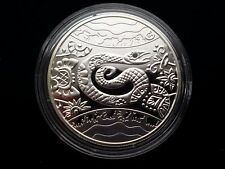 """Ukraine 5 UAH """"Year of the Snake""""  Silver Coin with Rubies,2012 year"""