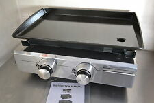 NEW ACE Plancha BBQ  Hotplate 2 Burner LPG gas GRIDDLE for outdoors use