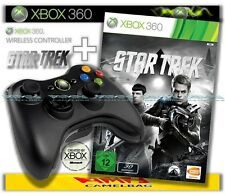 ORIGINAL MICROSOFT XBOX 360 WIRELESS CONTROLLER + STAR TREK STARTREK GAME NEU