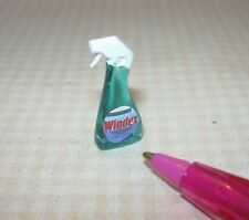 Miniature Blue Window and Glass Spray Cleaner Bottle (Brand): DOLLHOUSE 1/12