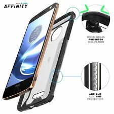 Affinity Shockproof Case for Motorola Moto Z / Moto Z Droid Edition Black/Clear