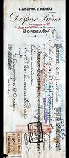 """BORDEAUX (33) LES RIZERIES Réunies de BACALAN """"L. DESPAX & NEVEU"""" en 1914"""