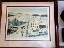 "Will Moses Framed ""Oak Hill Farm"" Signed Lithograph 330 out 0f 500 COA"