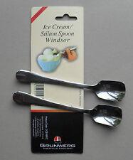 Crème glacée cuillère en acier inoxydable Stilton, pack de 2 cuillères, Windsor par Grunwerg