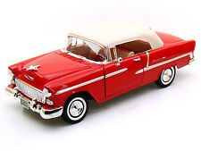 Motor Max 1/18 1955 Chevy Bel Air Red Soft Top American Classics Diecast 73184