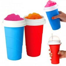 SQUEEZE N FREEZE SLUSHY MAKER KIDS CHILDREN ICE SQUEEZY FREEZY CUP & SPOON NEW