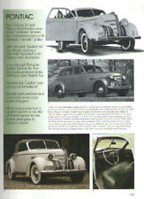 1939 Pontiac DeLuxe Eight Convertible + Coupe + Four Door Article - Must See !!