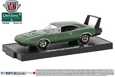 1:64 M2 Machines DRIVERS R38 = Green 1969 Dodge Charger DAYTONA HEMI *NIP*