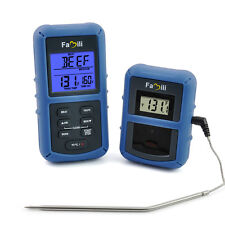 Famili Wireless Remote LCD Digital Probe BBQ Smoker Oven Grill Meat Thermometer