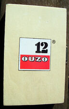 Original 12 Ouzo Werbung - Mini Backgammon -