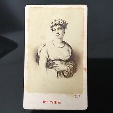 PHOTO CDV ANCIENNE Madame Tallien 1880 PHOTOGRAPHE Neurdein XIXè