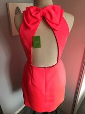Kate Spade Coral Bow Back Detail Dress Size 12