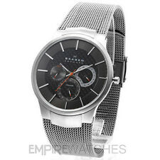 *NEW* SKAGEN MENS TITANIUM MESH STEEL SLIM WATCH - 809XLTTM - RRP £169.00