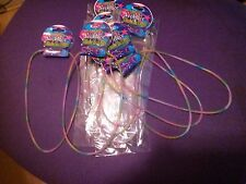 LOT OF 10 PARTY FAVORS / GRAB BAG / GLOW IN THE DARK NECKLACE / MULTI-COLOR