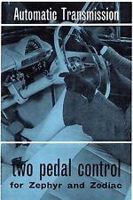Ford Zephyr & Zodiac Mk2 Automatic 1957-58 UK Market Foldout Sales Brochure
