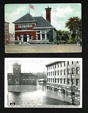 HM39 Haverhill, Post Office & Flood at Post Office & Store's in  Washington Sq.