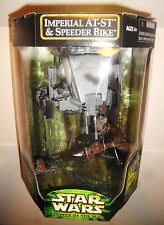 2000 STAR WARS Imperial AT-ST & Speeder Bike w/ Ewok Set NEW SEALED