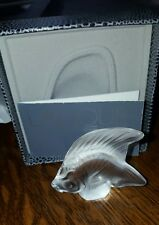 LALIQUE CRYSTAL CLEAR FISH #3000000 BRAND NIB FRENCH WATER PARIS