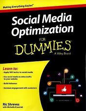 Social Media Optimization for Dummies by Ric Shreves (2015, Paperback)