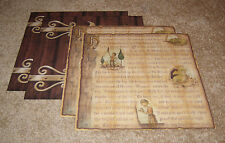 Karen Foster Design Dragon Fable/Dragon's Gate Paper Lot of Four.