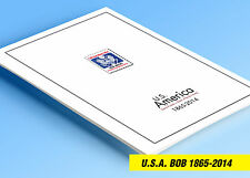 COLOR PRINTED USA SEMI-POSTALS + BOB 1865-2014 STAMP ALBUM PAGES (42 ill. pages)