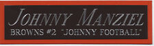 JOHNNY MANZIEL BROWNS NAMEPLATE AUTOGRAPHED SIGNED FOOTBALL-HELMET-JERSEY-PHOTO