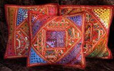 Patchwork Dekokissen Handarbeit Indien Kissenbezug orient ethno 40 x 40
