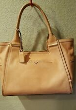 Vince Camuto Large Tan Pebbled Leather Hobo