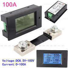 DC 100A Meter Voltage Current Power Energy Combo Monitor for Car Battery Solar
