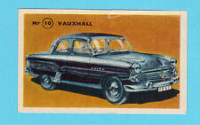 Vauxhall Vintage 1950s Car Collector Card from Sweden