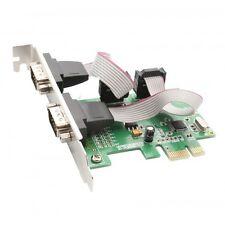 Syba SI-PEX15037 2 Port DB9 Serial PCI-e 1.0 x1 Controler Card