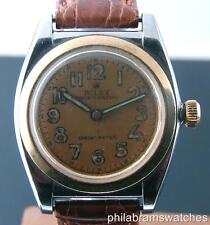 Rolex Bubbleback 3133 Vintage Two Tone Steel and 14k Yellow Gold Arabic Dial