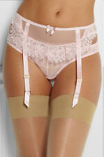 L' Agent by Agent Provocateur Pink Idalia Lace Tulle Garter Suspender Belt M NWT