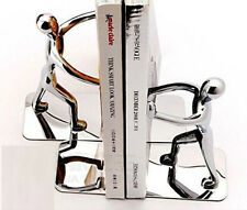 Pairs Book 2pcs Humanoid Metal Creative Bookends Stainless Steel Study