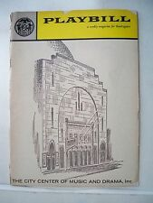 THE KING AND I Playbill  NY City Center BARBARA COOK / FARLEY GRANGER NYC 1960