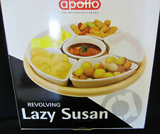 APOLLO THE HOUSEWARES BRAND REVOLVING LAZY SUZAN CREAM COLOUR BOWLS RELISH SNACK