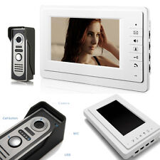 "7"" Color Video Door Phone Doorbell Intercom Monitor Home Security IR Camera Ring"