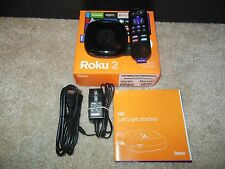 ROKU 2 STREAMING MEDIA PLAYER 2720RW Built-in Wifi w/HDMI cable