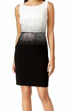Calvin Klein New Petite Rhinestone Colorblock Sheath Size 6P MSRP $149 #GN 620