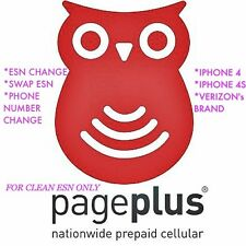 PAGEPLUS ESN CHANGE, SWAP or PHONE NUMBER CHANGE IPHONE VERIZON ASAP......