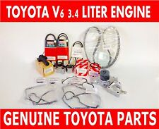 GENUINE TOYOTA OEM 3.4 LITER 5VZFE V6 COMPLETE 19 pcs TIMING BELT & PUMP KIT