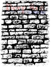Deep Red Cling Rubber Stamp Rubber Stamp Stone Brick Wall Background