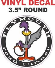 1 Plymouth Mopar Super Bird Road Runner Round Vinyl Decal - Nice and Sharp