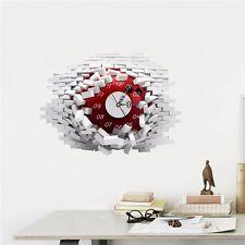 Orologio da parete con decalcomania 3D effetto muro rotto