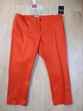 BNWT Pure Collection tomato red cotton sateen capri  trouser size 20