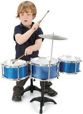Kids My First Drum Kit Set Cymbals Drummers Sticks Stand Chair Set Toyrific New